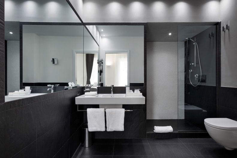 Gres porcellanato effetto pietra per interni hotel e - Top bagno ardesia ...