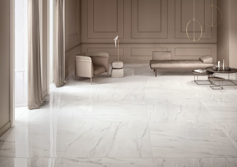Polished Stoneware Marble Effect Elements Lux Keope